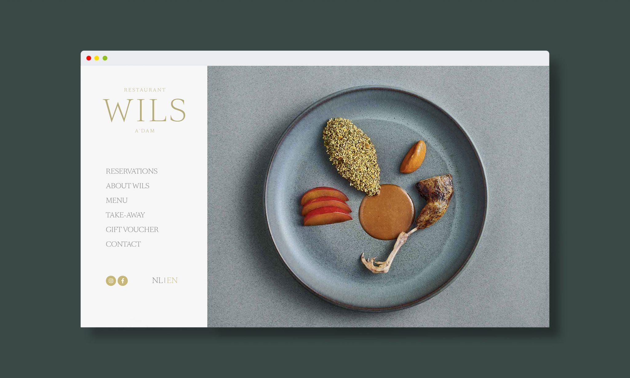 Wils Amsterdam Restaurant online identity
